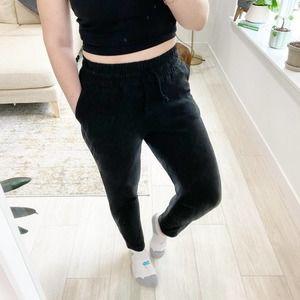 Faherty Black Knit Sweatpants Size Small